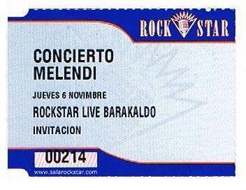 Melendi Ticket