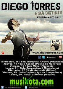Cartel Gira Distinto 2012 Musikota.com